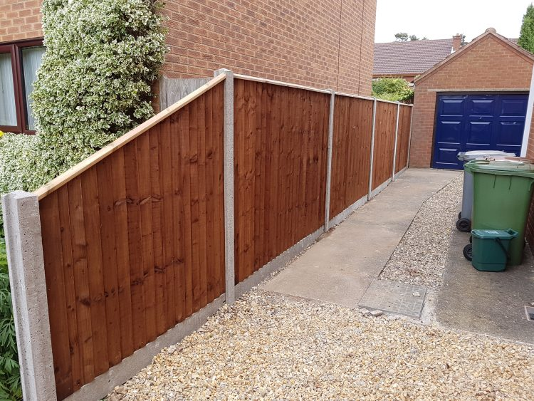 close board fencing concrete posts concrete gravel boards