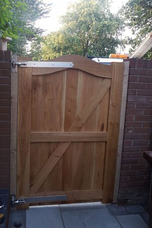 Mortise and tenon framed gates